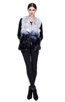 Bella Fare Blue Ombre Fox Vest