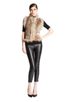 Bella Fare Rex Vest With Raccoon Trim