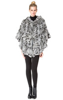 Bella Fare Grey Knitted Rex Poncho