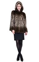 Belle Fare Leopard Print Mink Stroller