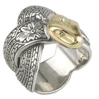 Konstantino Sterling Silver & 18k Gold Serpent Ring