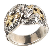 Konstantino Sterling Silver & 18k Gold Four Serpents Ring