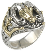 Konstantino Sterling Silver & 18k Gold Ram Ring