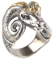 Konstantino Sterling Silver & 18k Gold Large Horn Ram Ring