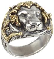 Konstantino Sterling Silver & 18k Gold Lion Ring