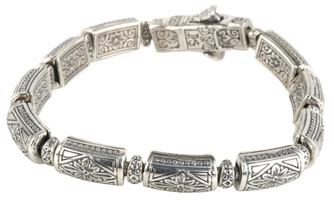 Konstantino Sterling Silver Thin Carved Link Bracelet