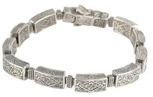 Konstantino Sterling Silver Thin Link Push Lock Bracelet