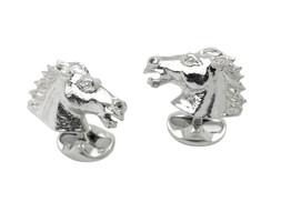 Deakin & Francis Silver Horse Cufflinks