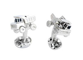 Deakin & Francis Silver Dumper Truck Cufflinks