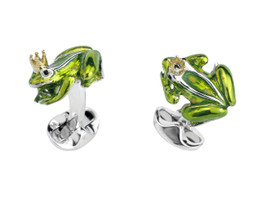 Deakin & Francis Frog with a Crown Cufflinks