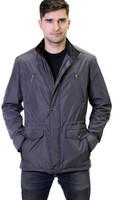 Remy Men's Zinman Zip and Button Front Jacket Charcoal