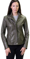 Remy Ultra Light Zip and Button Front Jacket Brandy