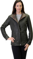 Remy Light Zip and Button Front Jacket Peat/Rustic