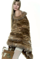 Paula Lishman Hand Knit Beaver Trillium Wrap
