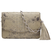 Armenta Mid-Size Box in Light Taupe Python