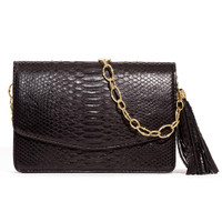Armenta Mid-Size Box in Black Python