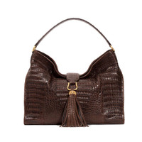 Armenta Hobo in Chocolate Caiman