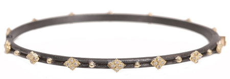 Armenta Crivelli Chocolate Brown Skinny Diamond Huggie Bracelet