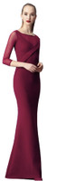Chiara Boni La Petite Robe Alidora Illusion Long Dress