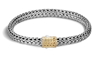 John Hardy Classic Chain 6.5 MM Bracelet in Silver and 18k Gold