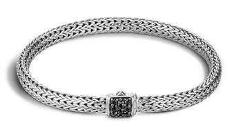 John Hardy Classic Chain Extra Small Bracelet with Black Sapphire