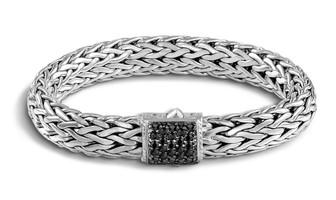 John Hardy Classic Chain Large Bracelet with Black Sapphire