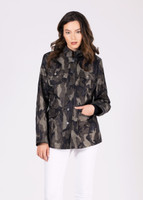 Jane Post Camo Safari Style Rain Slicker