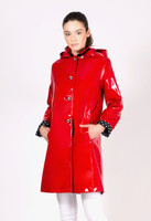 Jane Post Red Princess Style Rain Slicker