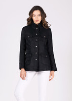 Jane Post Black Safari Style Rain Slicker