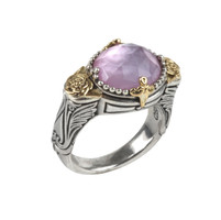 Konstantino Sterling Silver & 18k Gold Pink Mother of Pearl Doublet Ring
