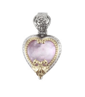 Konstantino Sterling Silver & 18k Gold Pink Mother of Pearl Doublet Pendant