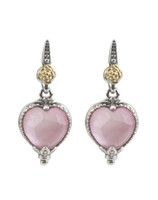 Konstantino Sterling Silver & 18k Gold Pink Mother of Pearl Doublet Earrings