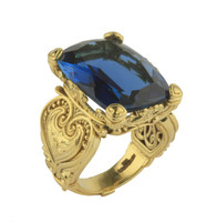 Konstantino 18k Yellow Gold London Blue Topaz Ring