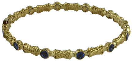 Konstantino 18k Yellow Gold London Blue Topaz Bracelet
