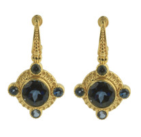 Konstantino 18k Yellow Gold London Blue Topaz Earrings