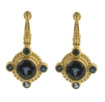 Konstantino 18k Yellow Gold London Blue Topaz Earrings
