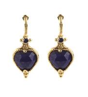 Konstantino 18k Yellow Gold Lapis & Sapphire Petite Drop Earrings