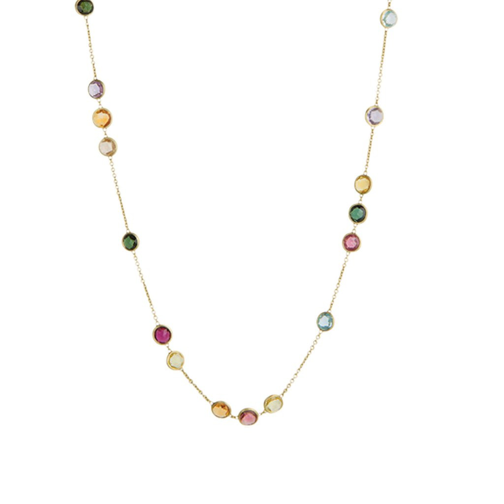 7e5057be4ef9ec Marco Bicego 18K Yellow Gold and Mixed Gemstones Small Bead Long Necklace.  Price: $5,100.00. Image 1. Larger / More Photos