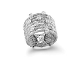 Alor 7 Cable Grey Multi Diamond Ring