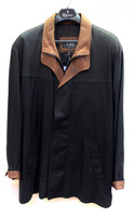 Remy Men's Double Collar Leather Jacket -  Peat/Dakota