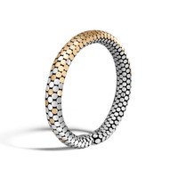 John Hardy Dot Gold and Silver Slim Flex Cuff