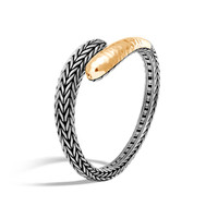 John Hardy Classic Chain Hammered 18K Gold and Silver Kick Cuff