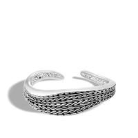John Hardy Classic Chain Wave Sterling Silver Kick Cuff