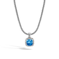 John Hardy Classic Chain Magic Cut Pendant Necklace with London Blue Topaz