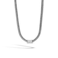 John Hardy Classic Chain Silver Diamond Pave Pendant