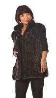 Paula Lishman Hand Knit Beaver Erin Vest