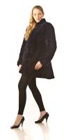 Paula Lishman Hand-Knit Beaver Estelle Coat