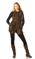 Paula Lishman Hand Knit Beaver Long Vest