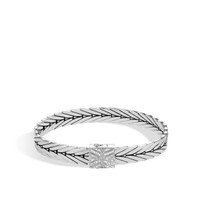 John Hardy Modern Chain Silver Diamond Small Bracelet