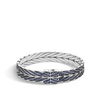 John Hardy Modern Chain Medium Bracelet with Blue Sapphire